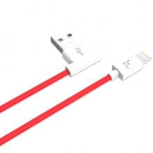 Дата-кабель HOCO UPL11 L SHAPE LIGHTNING CHARGING CABLE red
