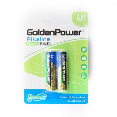 Батарейки Golden Power AA Блистер 2шт (GLR6A-C)